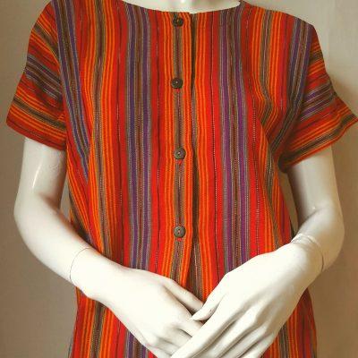 Guatemalan blouse Brightest Stripe