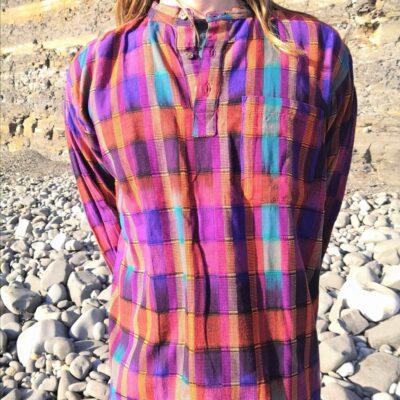 Hand woven shirt autumn