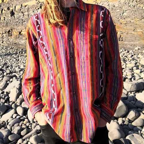 Hand woven shirt bright