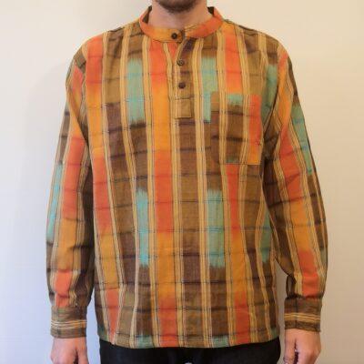 Hand woven shirt yellow