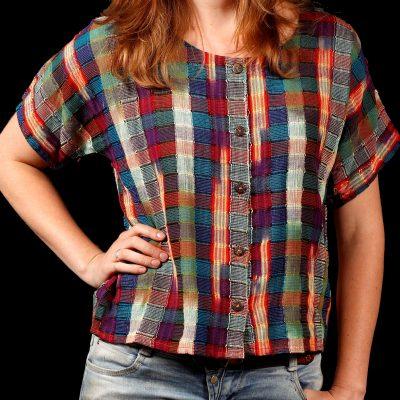 Guatemalan blouse check