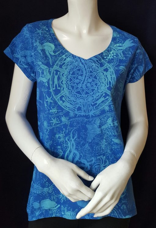 Wildlife Blue Top