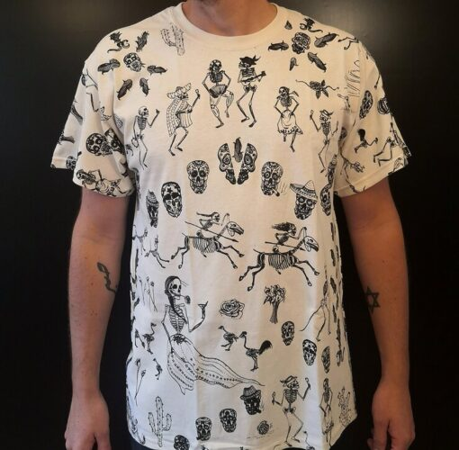 Day of the dead Hand printed t shirt