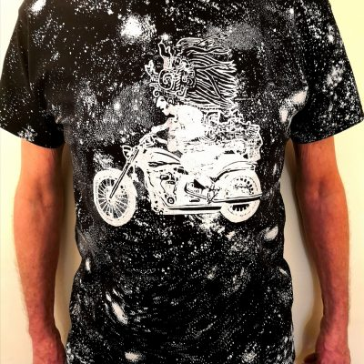 Mayan-God-on-Harley-Black