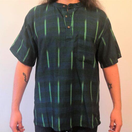 Hand woven shirt green