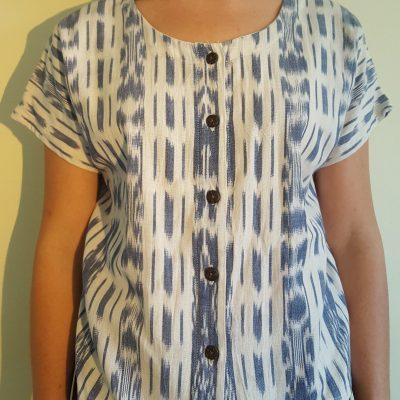 guatemalan blouse White_Blue