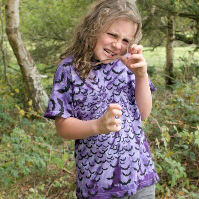 kids bats purple tie dye