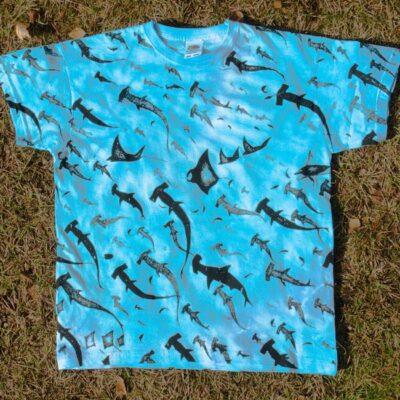 kids sharks tie die