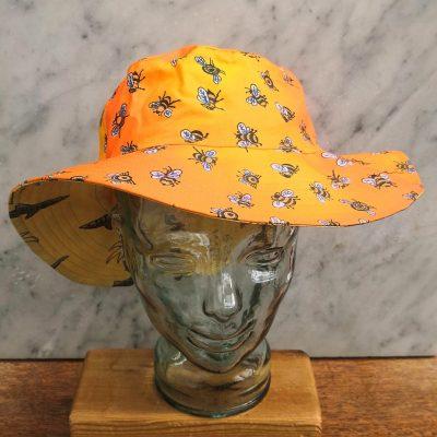 Medium Zimbabalooba Sun Hats. Reversible and hand screen printed