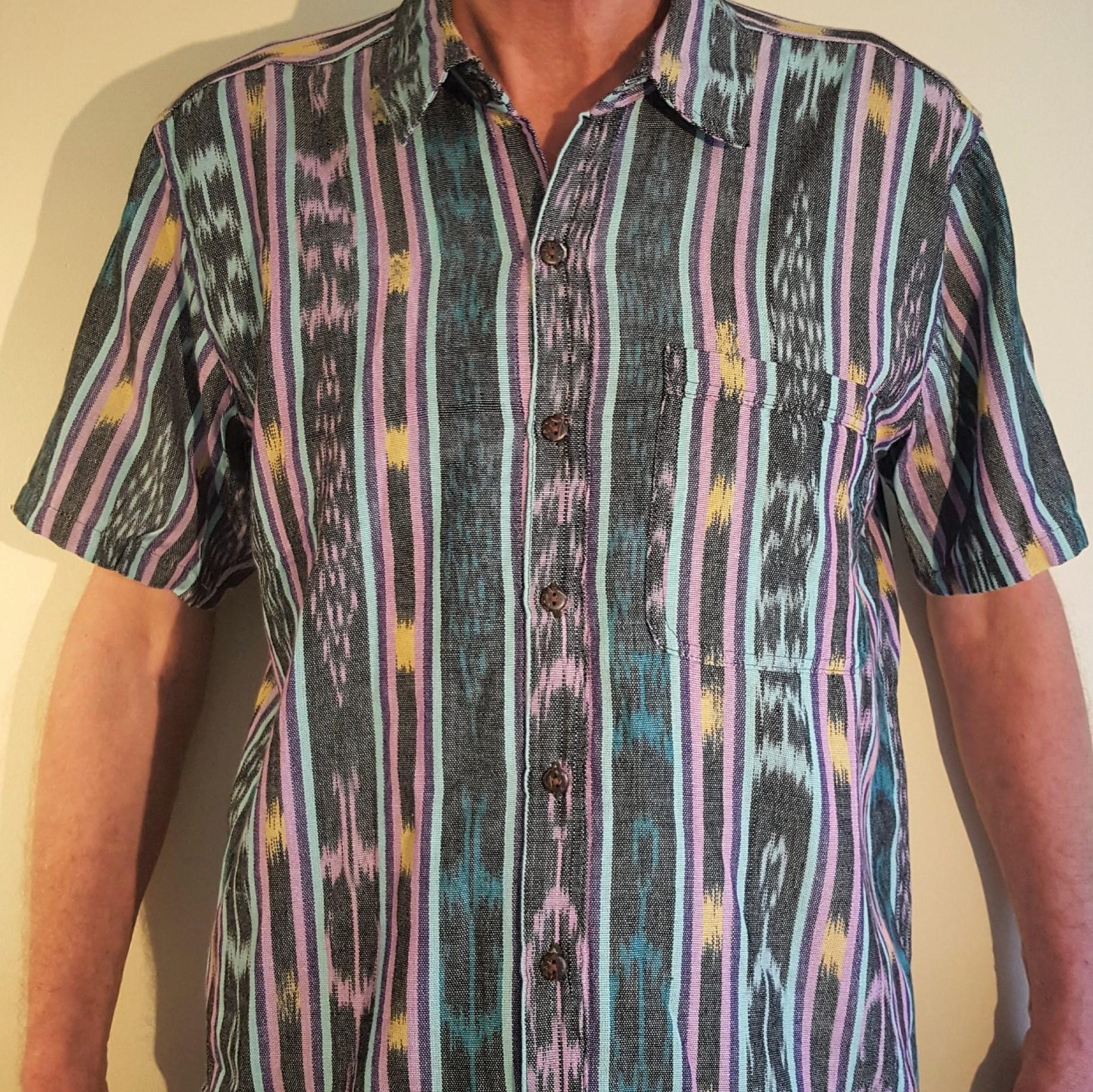 Hand woven short sleeve shirt