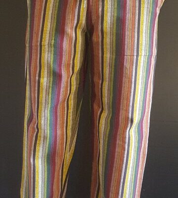 Hand Woven Trousers Autumn Stripe