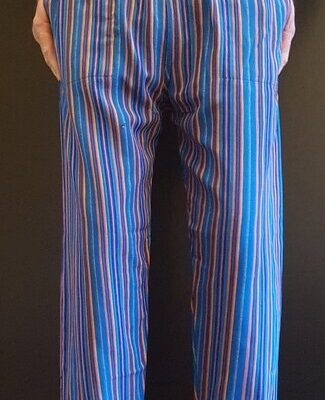 Hand Woven Trousers Blue