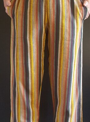 Hand Woven Trousers Brown S