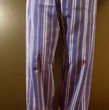 Hand Woven Trousers Dark Blue Stripe
