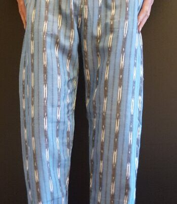 Hand Woven Trousers Light Blue