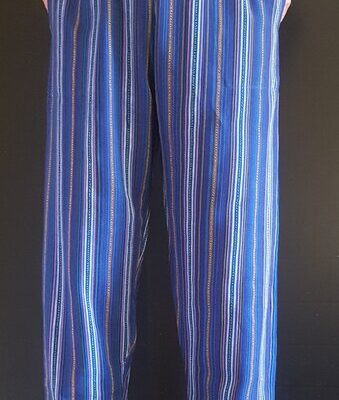Hand Woven Trousers Marine Blue