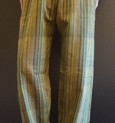 Hand Woven Trousers Olive Green