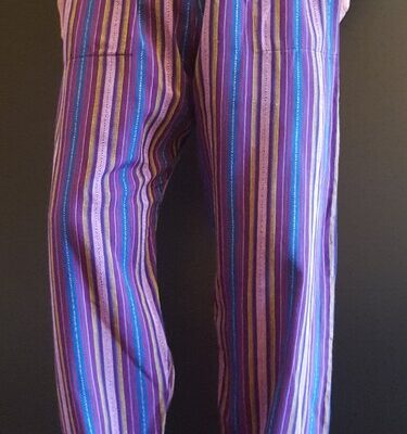 Hand Woven Trousers Purple