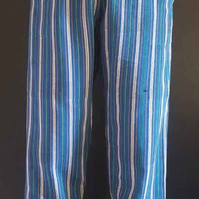 Hand Woven Trousers Soft Blue