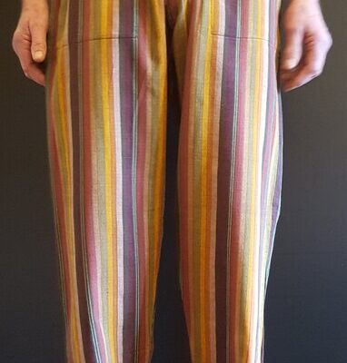 Hand Woven Trousers Yellow Brown