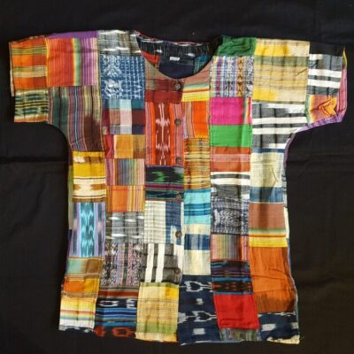 Hand woven patchwork blouse 1