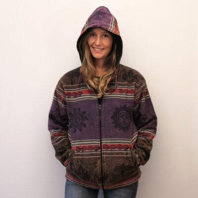 stonewashed jacket purple