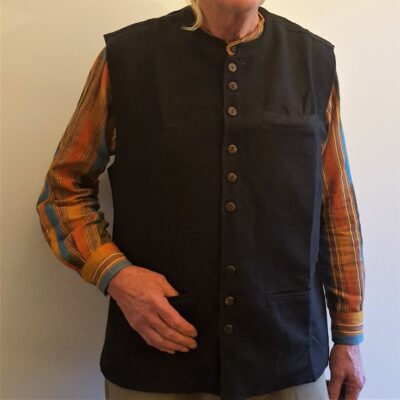 Nehru waistcoat black