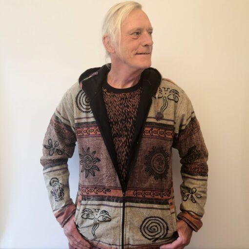 stonewashed jacket brown